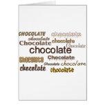 Chocolate del chocolate del chocolate felicitaciones