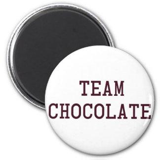Chocolate del equipo imán redondo 5 cm