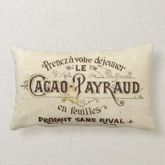 Chocolate del francés del vintage cojín lumbar