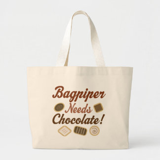 Chocolate del gaitero bolsa tela grande