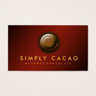 chocolate del gastrónomo 311-Upscale Tarjetas De Visita