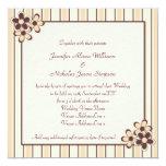 Chocolate del kitsch del país y boda beige de la invitación 13,3 cm x 13,3cm