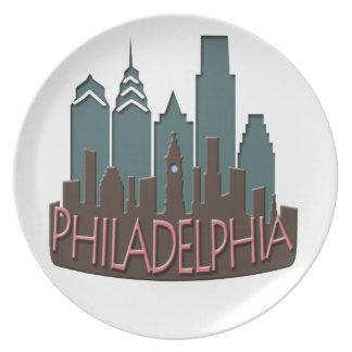 Chocolate del newwave del horizonte de Philly Plato Para Fiesta