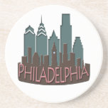 Chocolate del newwave del horizonte de Philly Posavasos Personalizados