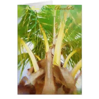 Chocolate del verde amarillo tarjeta de felicitación