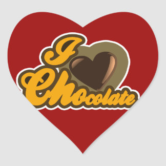 Chocolate design heart sticker