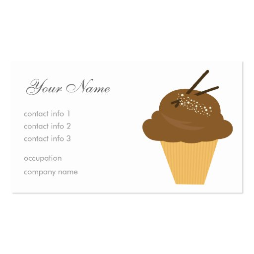 Chocolate Dessert Double-Sided Standard Business Cards (Pack Of 100)