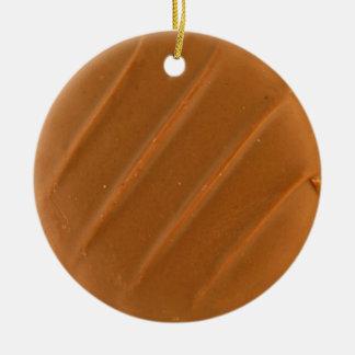 Chocolate Dipped Cookie Ceramic Ornament