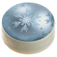 Chocolate Dipped Oreos - Marine Blue Snowflake Orn