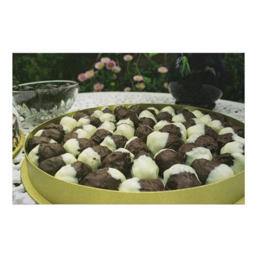 Chocolate dipped prunes poster