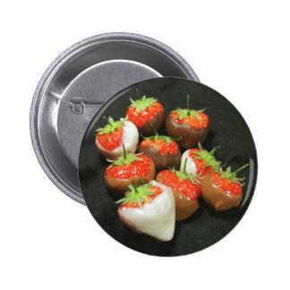 Chocolate dipped strawberries pin