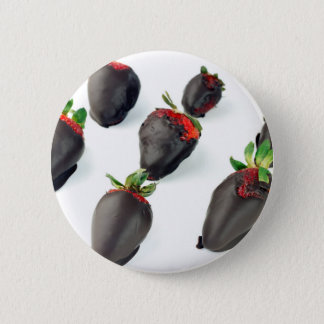 Chocolate Dipped Strawberries Pinback Button