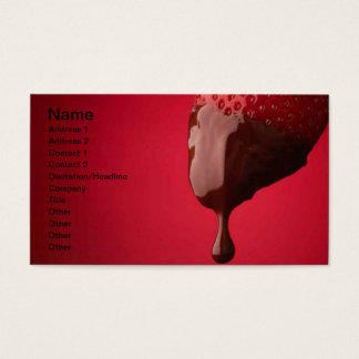 Chocolate Dipped Strawberry Business Card