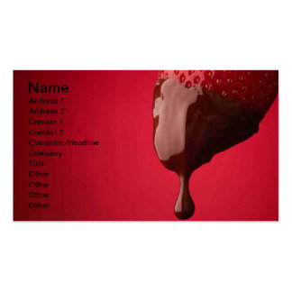 Chocolate Dipped Strawberry Business Card Templates