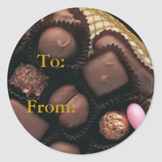 Chocolate Distressed Round Stickers - 2