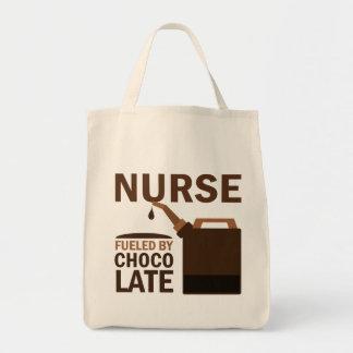 Chocolate (divertido) de la enfermera bolsa tela para la compra