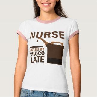 Chocolate (divertido) de la enfermera playeras