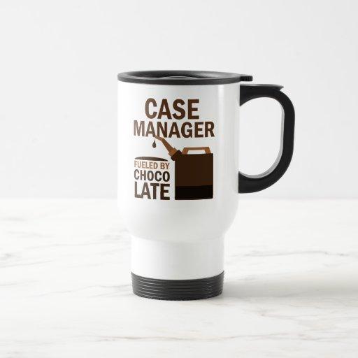 Chocolate (divertido) del encargado del caso tazas de café