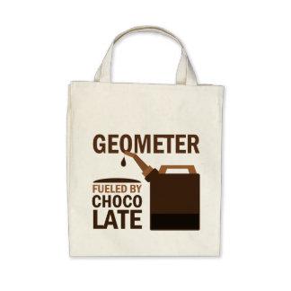 Chocolate divertido del geómetra bolsa lienzo