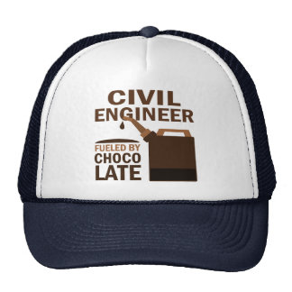 Chocolate divertido del ingeniero civil gorra