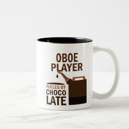 Chocolate (divertido) del jugador de Oboe Taza Dos Tonos