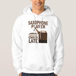 Chocolate (divertido) del jugador de saxofón sudaderas con capucha