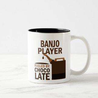 Chocolate (divertido) del jugador del banjo taza de dos tonos