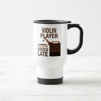 Chocolate (divertido) del jugador del violín taza de viaje de acero inoxidable