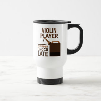 Chocolate (divertido) del jugador del violín taza térmica
