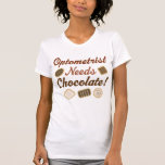 Chocolate (divertido) del optometrista camiseta