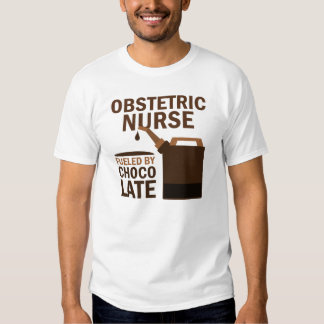 Chocolate (divertido) obstétrico de la enfermera playeras