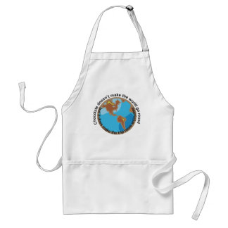 Chocolate doesn't make the world go round adult apron