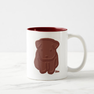 Chocolate Dog Two-Tone Coffee Mug