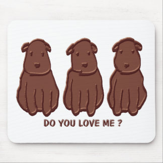 Chocolate Dogs Mouse Pad