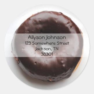 Chocolate Donut Address Stickers