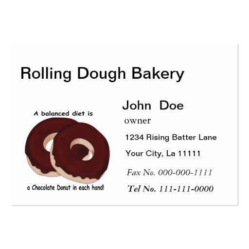 Chocolate Donut Bakery Business Card