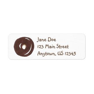 Chocolate Donut Doughnut Breakfast Food Address Label