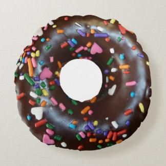 Chocolate donut round pillow