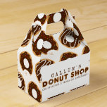 Chocolate Donut Shop Birthday Party Favor Box
