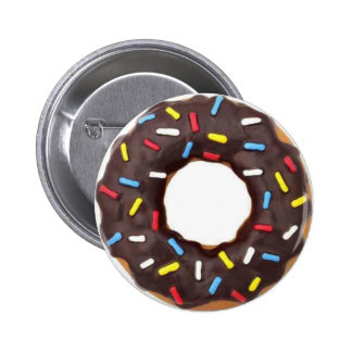Chocolate Donut w/ Sprinkles Buttons