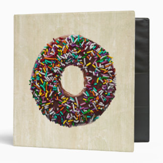 Chocolate Donut with colorful sprinkles Binder