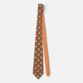 Chocolate Donut with colorful sprinkles Neck Tie