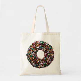 Chocolate Donut with colorful sprinkles