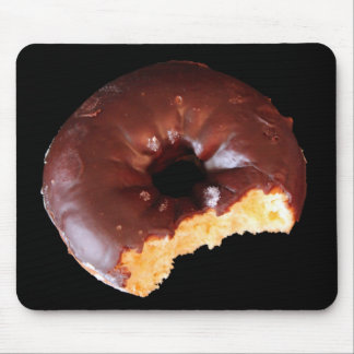 Chocolate Donut With Large Bite Photo Mouse Pad