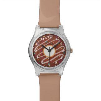 Chocolate Donut with Rainbow Sprinkles Wristwatch