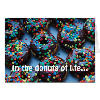Chocolate Donuts with Sprinkles Greeting Cards