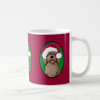 Chocolate Doodle Santa Classic White Coffee Mug