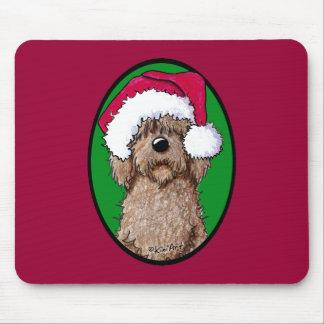 Chocolate Doodle Santa Mouse Pad