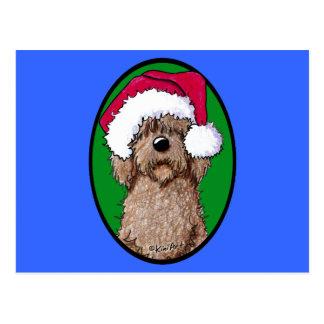 Chocolate Doodle Santa Postcard