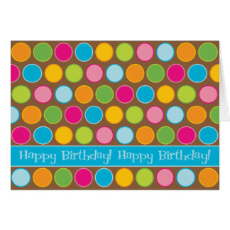 Chocolate Dots Birthday Card